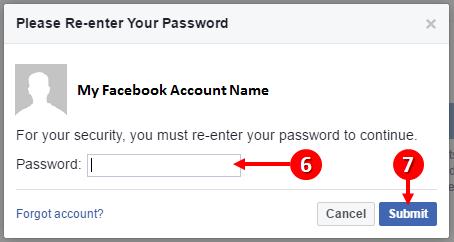 facebook confirm details