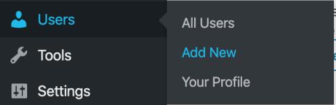 Add a user to wordpress